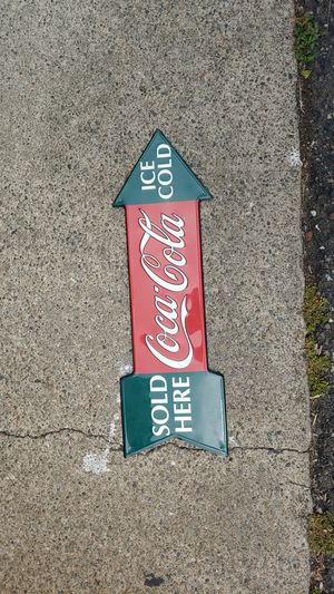 Coca Cola metal sign 1990 for Sale in Lacey, WA
