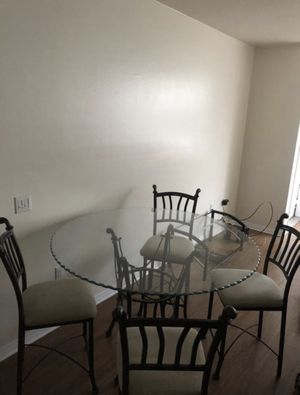 Glass Kitchen/dining Table + 4 Chairs Whole Set for Sale in Murrieta, CA