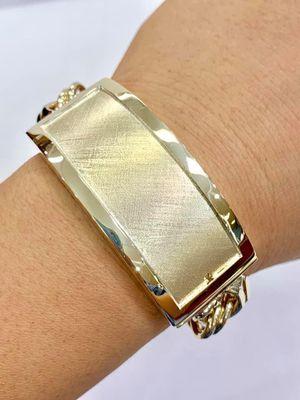 10 k gold chino link bracelet custom made ( item # MMCH50) for Sale in Baytown, TX