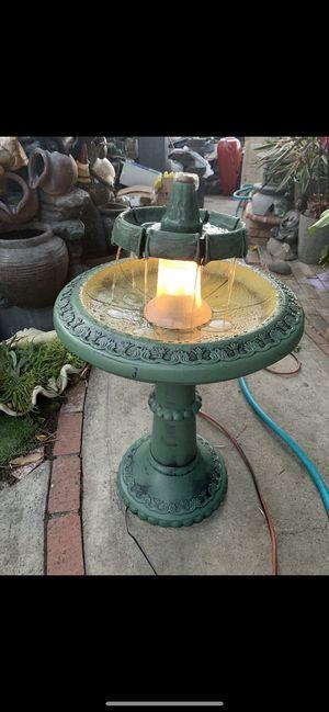 Plastic fountain with light for Sale in Altadena, CA