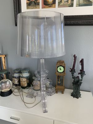 Kartell bourgie lamp acrylic clear for Sale in Las Vegas, NV