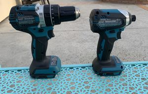 Hammer drill makita 18 v and impact $50 each new is brushless Final price thanks for Sale in Pico Rivera, CA