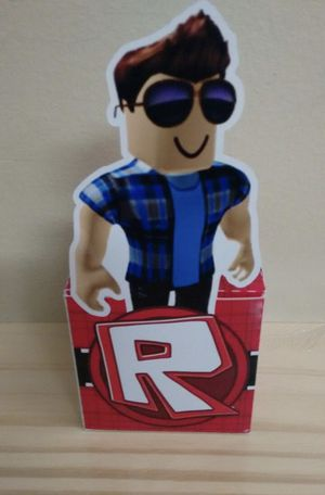 Party Favor Box birthday Gifts Personalized Roblox for Sale in Margate, FL