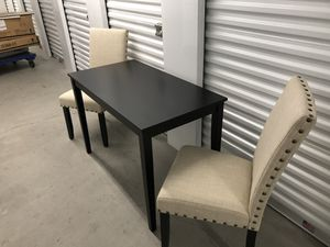 Dining table and two chairs for Sale in Las Vegas, NV