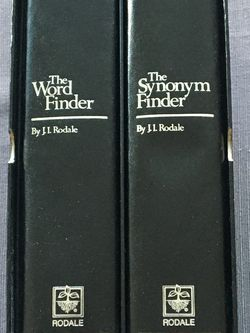 The Word Finder/The Synonym Finder, writers & students best resources, 2 book set with slipcase, classic word finder reference set, an indispensable r for Sale in Lansdale,  PA