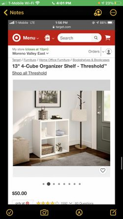 "13"" 4-cube Organizer Shelf -threshold for Sale in Eastvale,  CA"