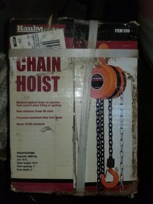 Chain Hoist New for Sale in Stockton, CA