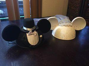 Mickey & Minnie Disney wedding hatts for Sale in Federal Way, WA