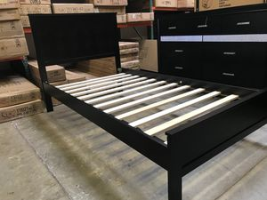 TWIN SIZE Wood Platform Bed with Headboard / No Box Spring Needed / Wood Slat Support, Cappuccino SKU# 7582T-CP for Sale in Santa Ana, CA