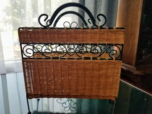 Wicker Magazine Holder Like June's Online Consignment Shop on Facebook for Sale in Neenah, WI