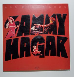 Sammy Hagar ‎– All Night Long LP Vinyl Record Hard Rock Orig 1978 for Sale in Lakewood, WA