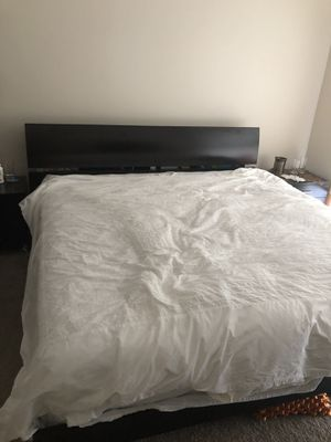 Dark brown bed frame and mattress for Sale in Orlando, FL