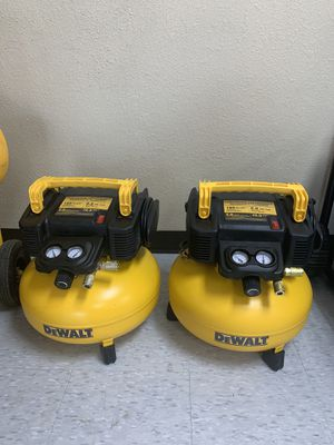 DEWALT DEWALT 6 Gal. 165 PSI Electric Pancake Air Compressor $ 99 each $ cada uno for Sale in Houston, TX