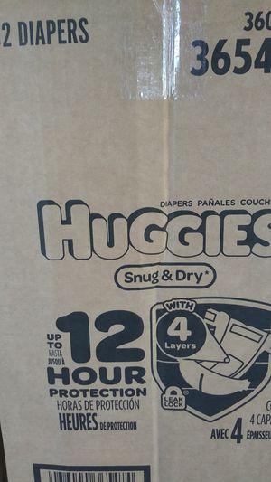 Huggies diapers size 4 for Sale in Riverside, CA