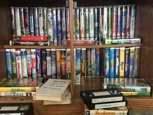 100 Disney VHS cassettes for children. Make an OFFER I will take it. for Sale in Pasco, WA