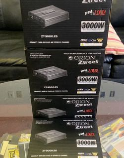 Orion Car Audio . Car Stereo Amplifier . 3000 watts 2 Channel . 3 Day Super Sale $79 While They Last . New for Sale in Mesa,  AZ