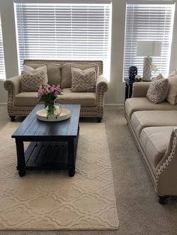 Beige Nailhead Sofa and Loveseat for Sale in Aurora,  CO