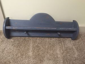 Small coat rack with shelf. Chalked. Chair separate. for Sale in Akron, OH