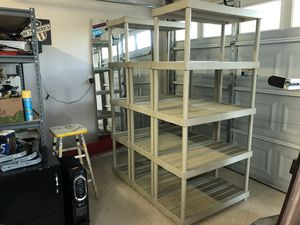 Heavy duty plastic shelves for Sale in Las Vegas, NV