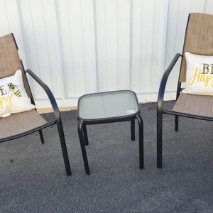 Cute 3 piece outdoor patio set furniture with pillows ALL BRAND NEW🔥🔥🔥FREE DELIVERY WITHIN 5 MILES 👍 for Sale in Las Vegas, NV