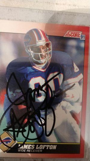 James lofton autograph card for Sale in Jacksonville, FL