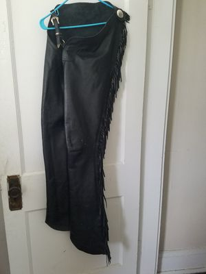 Leather western fringe chaps for Sale in Columbus, OH