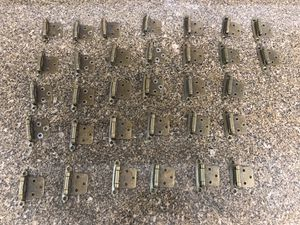 Cabinet Hinges x32, Antique Brass Finish for Sale in Las Vegas, NV