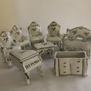 8 Miniature Porcelain Doll House Furniture for Sale in North Richland Hills, TX