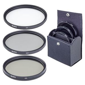ProOPTIC 55mm Digital Essentials Filter Kit, with Ultra Violet (UV), Circular Polarizer and Neutral Density 2 (ND2) Filters, with Pouch for Sale in Redwood City, CA