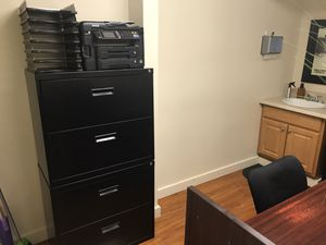 """Realspace® SOHO 30""""W 2-Drawer Metal Lateral File Cabinets, Black for Sale in Hilo, HI"""