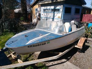 Trailer with fiber glass boat for Sale in Sacramento, CA