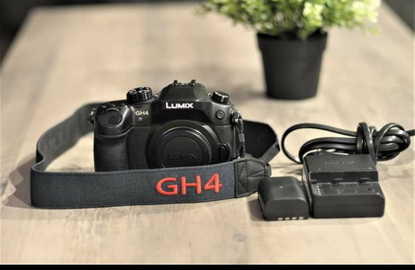 Panasonic Lumix GH4 with 2 batteries & charger (no lens)