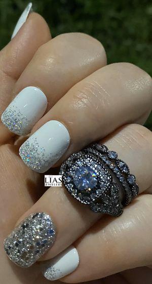 New s925 black gunmetal wedding ring set for Sale in Orlando, FL