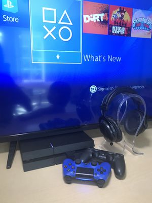 PlayStation 4 PS4 Almost New w/ Two Controllers One Low Latency Bluetooth Gaming Headphones for Sale in Irvine, CA