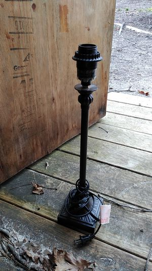 Lamp no shade dark brown single lamp for Sale in Greenville, SC