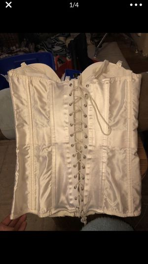 Vintage nos NEW with tags! fredericks of Hollywood corset 34 B white great gift! Costume? for Sale in Portland, OR