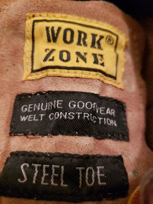 WORKZONE STEELTOE WORKING CONSTRUCTION BOOTS for Sale in San Francisco, CA