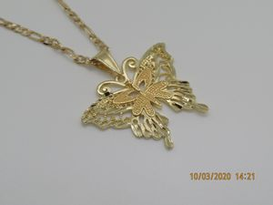 Gold Plated Butterfly Necklace for Sale in Perris, CA