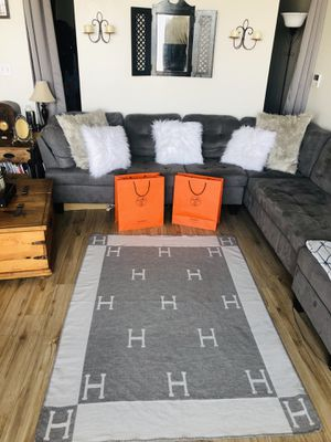 Reversible H wool blend throw blanket for Sale in Seattle, WA