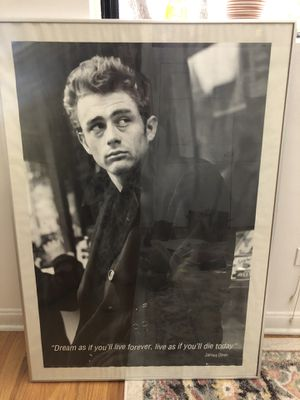 """Vintage James Dean / w/ quote -""""Dream as I'd you'll live forever, live as if you'll die today"""" for Sale in Chicago, IL"""