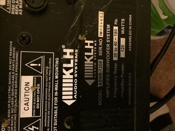 Amplifier Speaker Subwoofer
