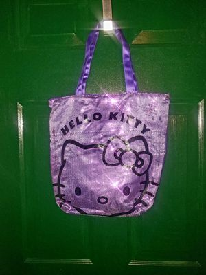Hello Kitty Purple Sequins Tote Bag for Sale in Glenn Dale, MD