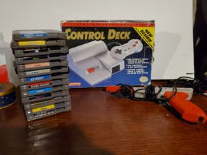 Nintendo top loader system with games for Sale in Pawtucket, RI