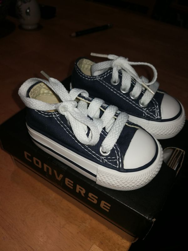 Infants blue and white Converse