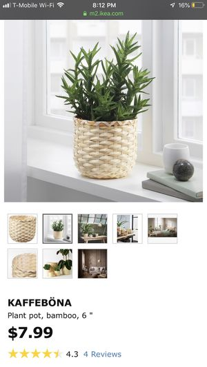 5 inch bamboo plant holder ikea for Sale in West Covina, CA
