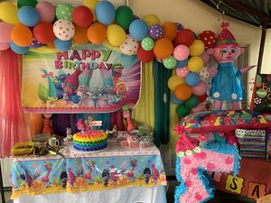 Trolls Happy birthday banner for Sale in Los Angeles, CA