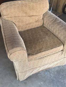Upholstered chair. Comfortable. Used. Free for Sale in St. Louis,  MO