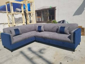 NEW 7X9FT CHARCOAL MICROFIBER COMBO SECTIONAL COUCHES for Sale in Monterey Park, CA