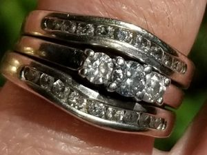 White Gold Wedding Ring with many Diamonds for Sale in Wichita, KS