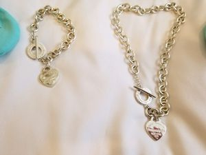 Tiffany Bracelet and Necklace Set Perfect Condition for Sale in Glendale, AZ